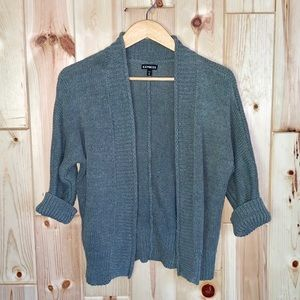 Express Open Gray Cardigan Sweater XS